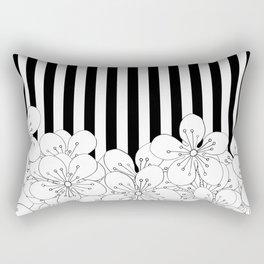 Cherry Blossom Stripes - In Memory of Mackenzie Rectangular Pillow