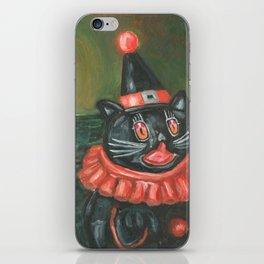 Black Cat Clown iPhone Skin