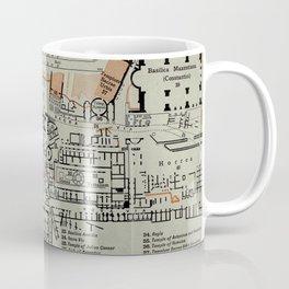 Vintage Map of The Roman Forum (1911) Coffee Mug