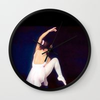 ballerina Wall Clocks featuring Ballerina by Ray Cowie