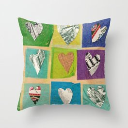 Walk on By, Love Throw Pillow