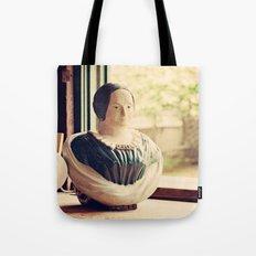 Woman in a Window Tote Bag