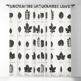 European Tree Leaves Blackout Curtain