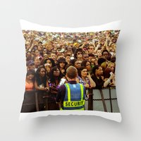 concert Throw Pillows featuring Concert Crowd by ThatRaulSanchez