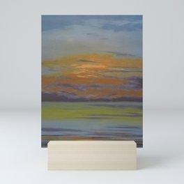 At the Coast, Beautiful Sunrise with streaks of orange, purple, yellow, gray seascape painting by Léon Spilliaert  Mini Art Print