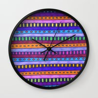 gem Wall Clocks featuring Gem by Erin Jordan