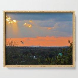 God Rays Sunset (1) Serving Tray