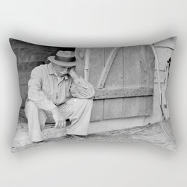 Farmer in Despair Over the Depression in 1932 Rectangular Pillow