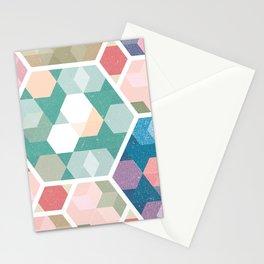 Pastel Hexagon Pattern Stationery Cards