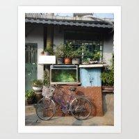 Beijing Bicycle Art Print