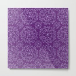 Violet indian mandala Metal Print