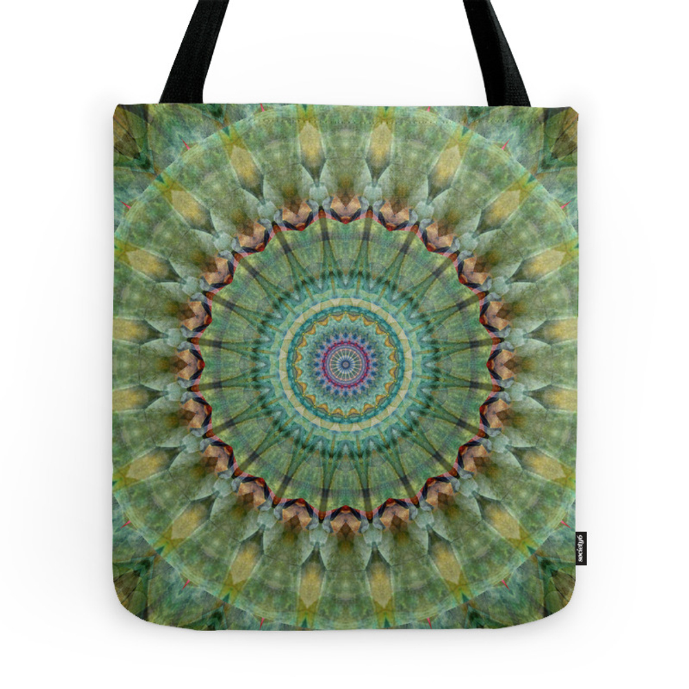 Mandala Green Malachite Tote Purse by christinebssler (TBG3032857) photo