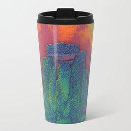 Stonehenge on Fire Travel Mug