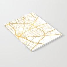 DALLAS TEXAS CITY STREET MAP ART Notebook