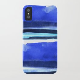 Wave Stripes Abstract Seascape iPhone Case