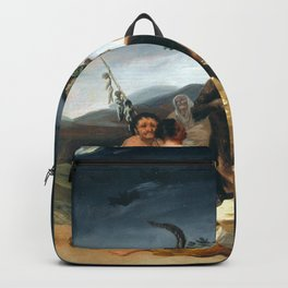 The Sabbath of Witches Goya Painting Backpack