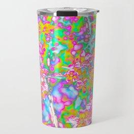 Floral Pop of Color Travel Mug