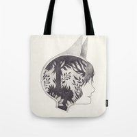into the wild Tote Bags featuring wild by yohan sacre