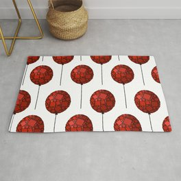 Rise Up - Little Red Balloon - Love - Children - 57 Montgomery Ave Rug