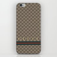 gucci iPhone & iPod Skins featuring Gucci Class by Goldflakes
