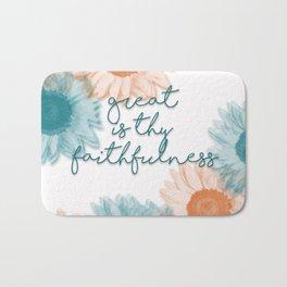 Great is Thy Faithfulness Bath Mat