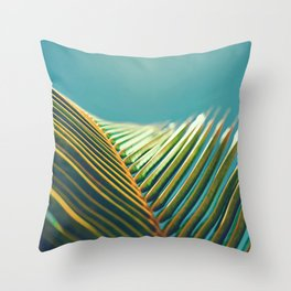 Palm Leaves in the Sun Throw Pillow