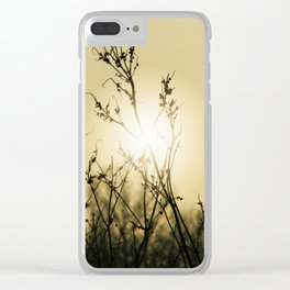 Sunrise Branches Clear iPhone Case