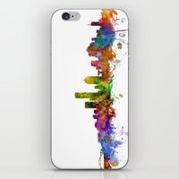 milwaukee iPhone & iPod Skins featuring Milwaukee Wisconsin Skyline by artPause