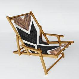 Urban Tribal Pattern No.1 - Concrete and Wood Sling Chair