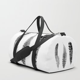 Feather Trio | Black and White Duffle Bag
