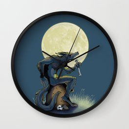 Werewolf! Wall Clock