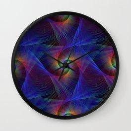 Fractal magic lights Wall Clock