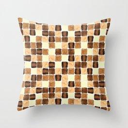 Tierra sqaures watercolour  Throw Pillow