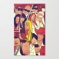 kill bill Canvas Prints featuring Kill Bill by Ale Giorgini