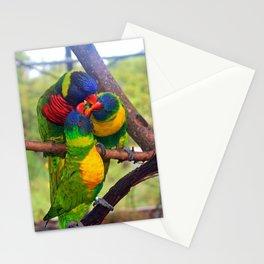 Three Lorikeets Stationery Cards