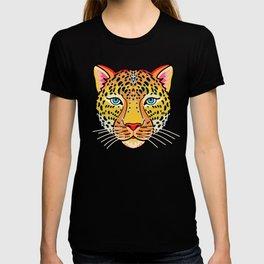 tattoo style leopard head T-shirt
