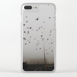 Flying in the fog Clear iPhone Case