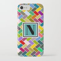 monogram iPhone & iPod Cases featuring N Monogram  by mailboxdisco