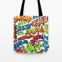 Comic Book Sounds Tote Bag