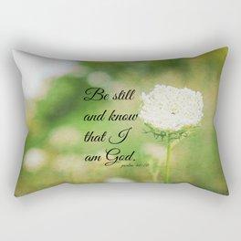 Psalm 46:10 Be Still Rectangular Pillow