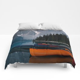 Canoes & Mountains Comforters