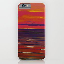 Marine, Soir - Red Skies at Night ... landscape painting by Leon Spilliaert iPhone Case