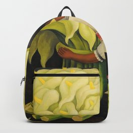 The Cuauhnāhuac Calla Lily Vendor by Diego Rivera Backpack