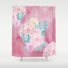 Dahlia Bush #society6 Shower Curtain
