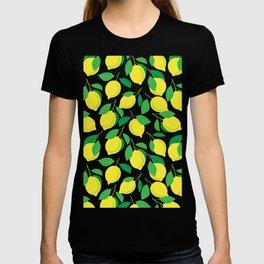 Lemons and leaves pattern  T-shirt