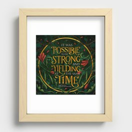 To be strong Recessed Framed Print