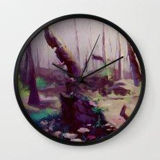 Rebirth   painted Bambi landscape Wall Clock