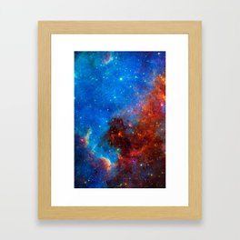 Look Up And Get Lost, Galaxy Background, Universe Large Print, Space Wall Art Decor, Deep Space Framed Art Print
