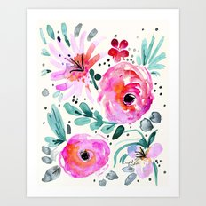 Colby Floral Art Print