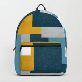 Abstract geometric cubism pattern Backpack